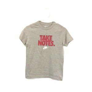 "Nike Youth ""Take Notes"" Gray Graphic Tee"